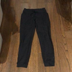 Lululemon black drawstring lounge pants size 8